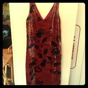 Zara colorful velvet dress